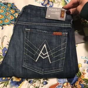 """""""A"""" Pocket 7 for all mankind flare Jeans"""